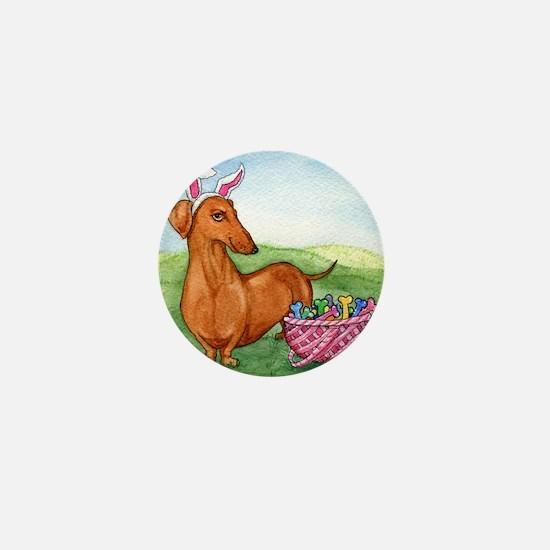 Funny Easter Dachshund Mini Button