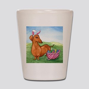 Funny Easter Dachshund Shot Glass