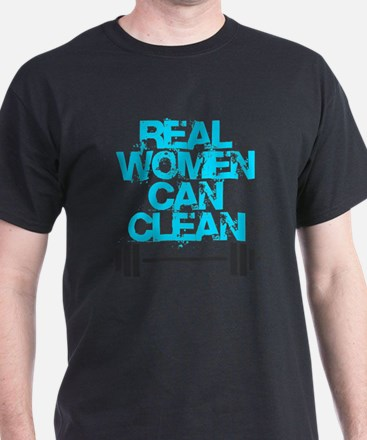 Real Women Can Clean (Light Blue) T-Shirt