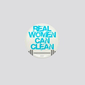 Real Women Can Clean (Light Blue) Mini Button