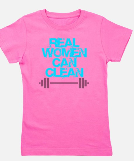 Real Women Can Clean (Light Blue) Girl's Tee