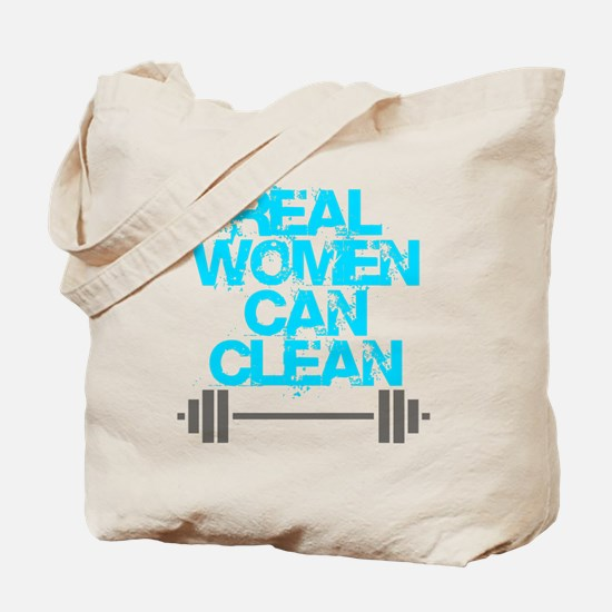 Real Women Can Clean (Light Blue) Tote Bag