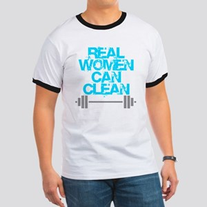 Real Women Can Clean (Light Blue) Ringer T