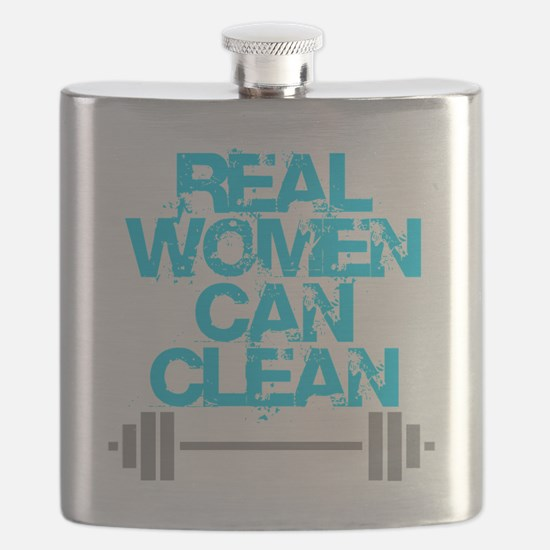 Real Women Can Clean (Light Blue) Flask