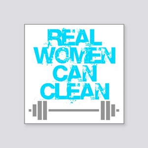 """Real Women Can Clean (Light Square Sticker 3"""" x 3"""""""