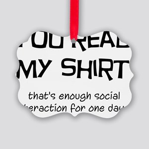 Social Interaction Picture Ornament