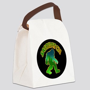 Sasquatch Forest Scene Canvas Lunch Bag
