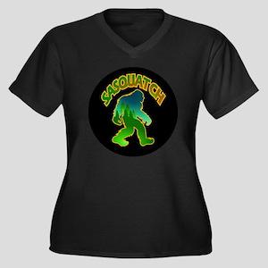 Sasquatch Fo Women's Plus Size Dark V-Neck T-Shirt