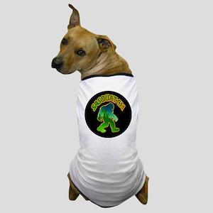 Sasquatch Forest Scene Dog T-Shirt