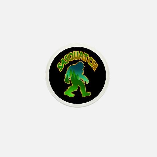 Sasquatch Forest Scene Mini Button