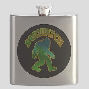 Sasquatch Forest Scene Flask
