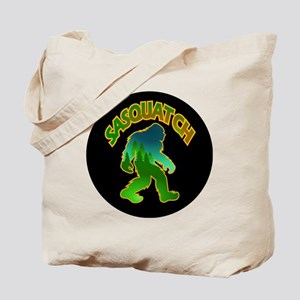 Sasquatch Forest Scene Tote Bag