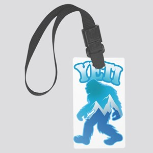 Yeti Mountain Scene Large Luggage Tag