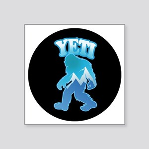 "Yeti Mountain Scene Square Sticker 3"" x 3"""