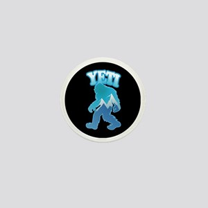 Yeti Mountain Scene Mini Button