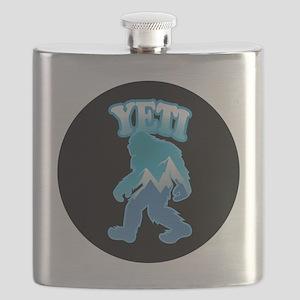 Yeti Mountain Scene Flask