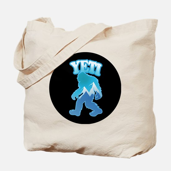 Yeti Mountain Scene Tote Bag