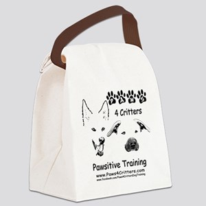 Paws4Critters Pawsitive Dog Train Canvas Lunch Bag