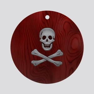 steelwood-pirate-PHNz Round Ornament