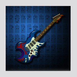 KuuMa Guitar 02 (B) Tile Coaster
