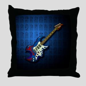 KuuMa Guitar 02 (B) Throw Pillow