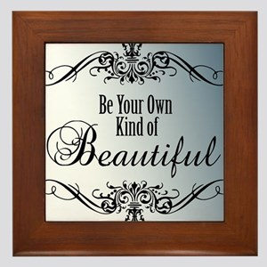 Be Your Own Beautiful Framed Tile