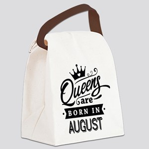 Queens Are Born In August Canvas Lunch Bag