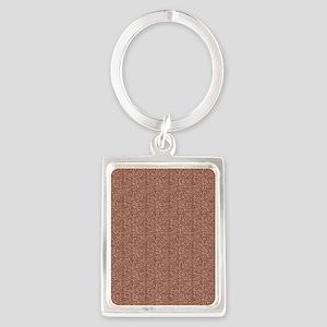 Peach Glitter Portrait Keychain