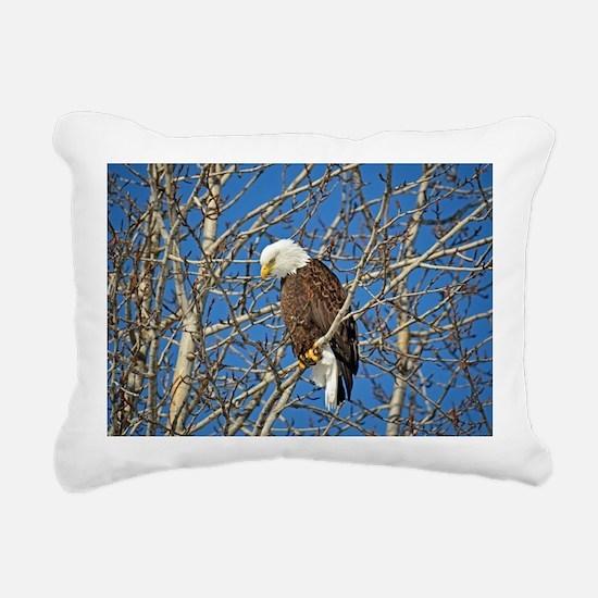 Magnificent Bald Eagle Rectangular Canvas Pillow