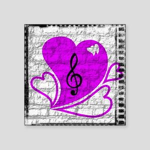 """Heartbreak notes logo Square Sticker 3"""" x 3"""""""