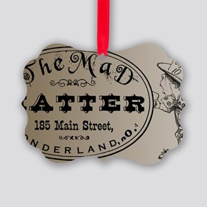Mad Hatter Picture Ornament