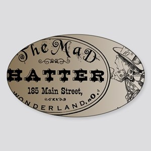Mad Hatter Sticker (Oval)