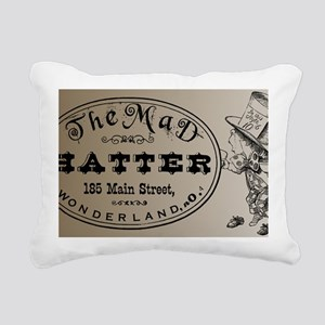 Mad Hatter Rectangular Canvas Pillow