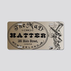 Mad Hatter Aluminum License Plate