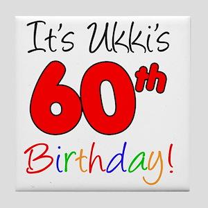 Ukkis 60th Birthday Tile Coaster