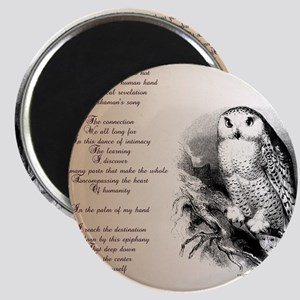 Owl with poem Magnet