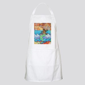 Colorful Mermaid at Sunset Beach Apron