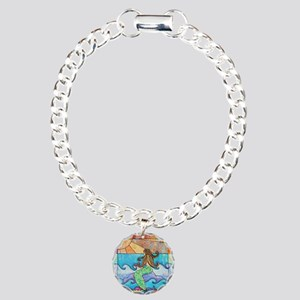 Colorful Mermaid at Suns Charm Bracelet, One Charm