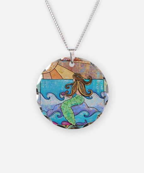 Colorful Mermaid at Sunset B Necklace