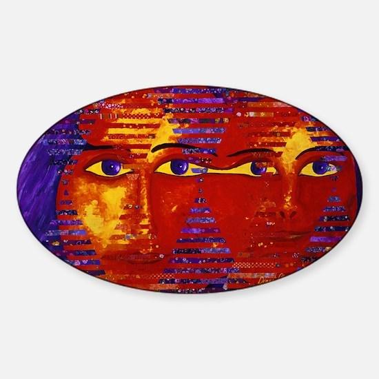 Conundrum III Abstract Goddess Sticker (Oval)