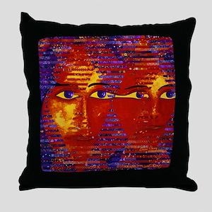 Conundrum III Abstract Goddess Throw Pillow