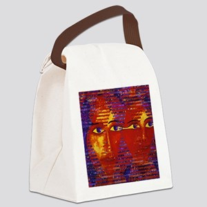 Conundrum III Abstract Goddess Canvas Lunch Bag
