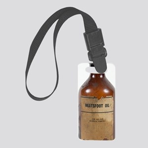 Antique neatsfoot oil bottle Small Luggage Tag