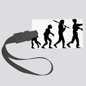 evolution_of_zombie Large Luggage Tag