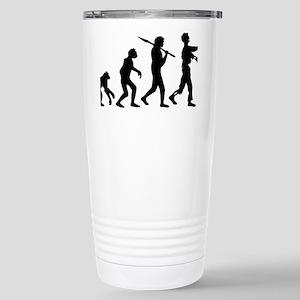 evolution_of_zombie Stainless Steel Travel Mug