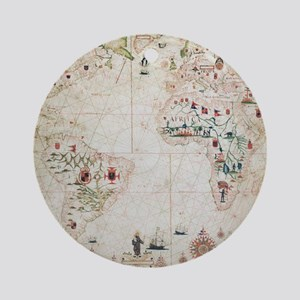 17th Century nautical map of the At Round Ornament