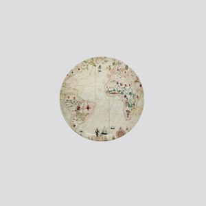 17th Century nautical map of the Atlan Mini Button