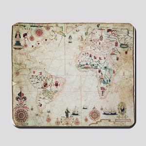17th Century nautical map of the Atlanti Mousepad