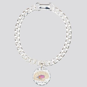 Basal ganglia, artwork Charm Bracelet, One Charm