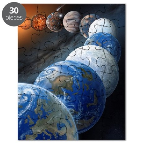 Formation of the Earth, artwork Puzzle